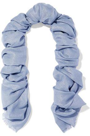 BRUNELLO CUCINELLI Metallic cashmere-blend gauze scarf