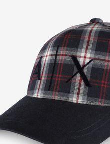 ARMANI EXCHANGE PLAID LOGO HAT Hat [*** pickupInStoreShippingNotGuaranteed_info ***] d