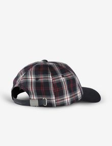 ARMANI EXCHANGE PLAID LOGO HAT Hat [*** pickupInStoreShippingNotGuaranteed_info ***] r