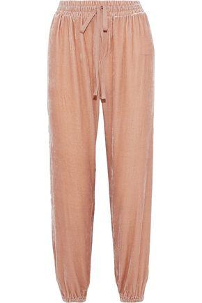 CURRENT/ELLIOTT The Eden cropped velvet track pants