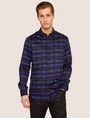 ARMANI EXCHANGE REGULAR-FIT FREEFORM CHECK SATIN-WEAVE SHIRT Printed Shirt [*** pickupInStoreShippingNotGuaranteed_info ***] f