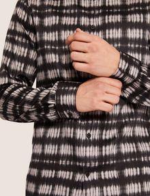 ARMANI EXCHANGE REGULAR-FIT FREEFORM CHECK SATIN-WEAVE SHIRT Printed Shirt [*** pickupInStoreShippingNotGuaranteed_info ***] b