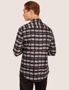 ARMANI EXCHANGE REGULAR-FIT FREEFORM CHECK SATIN-WEAVE SHIRT Printed Shirt [*** pickupInStoreShippingNotGuaranteed_info ***] e