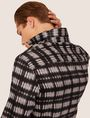 ARMANI EXCHANGE REGULAR-FIT FREEFORM CHECK SATIN-WEAVE SHIRT Printed Shirt [*** pickupInStoreShippingNotGuaranteed_info ***] a