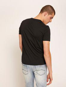 ARMANI EXCHANGE SLIM-FIT REVERSE REFLECT LOGO V-NECK Logo T-shirt Man e