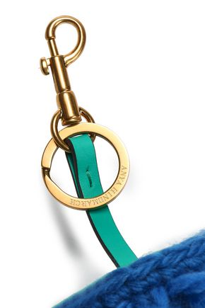 ANYA HINDMARCH Embellished leather keychain