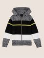 ARMANI EXCHANGE BOYS MIXED STRIPE SWEATER HOODIE Layering Man f