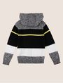 ARMANI EXCHANGE BOYS MIXED STRIPE SWEATER HOODIE Layering Man r