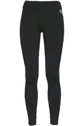 MONREAL LONDON Mesh-paneled stretch leggings