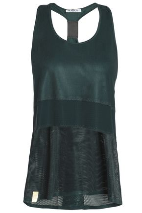 MONREAL LONDON Paneled mesh and perforated stretch tank