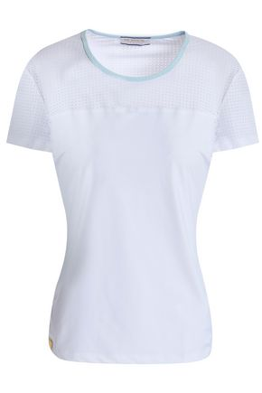 MONREAL LONDON Laser-cut paneled stretch T-shirt