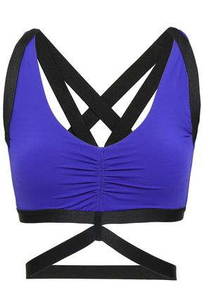 MONREAL LONDON Printed stretch-jersey sports bra