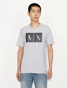 ARMANI EXCHANGE TESSELLATED LOGO CREWNECK TEE Logo T-shirt [*** pickupInStoreShippingNotGuaranteed_info ***] f