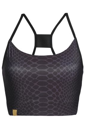 MONREAL LONDON Animal-print stretch sports bra