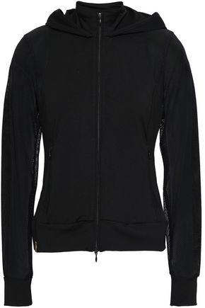MONREAL LONDON Mesh-paneled stretch hooded jacket