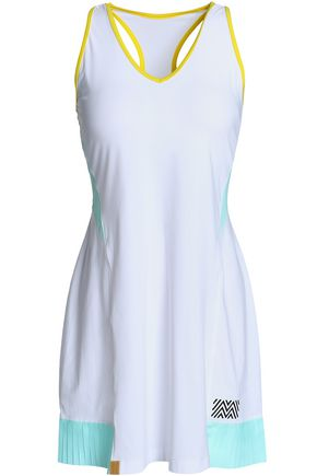 MONREAL LONDON Cutout pleated stretch tennis dress