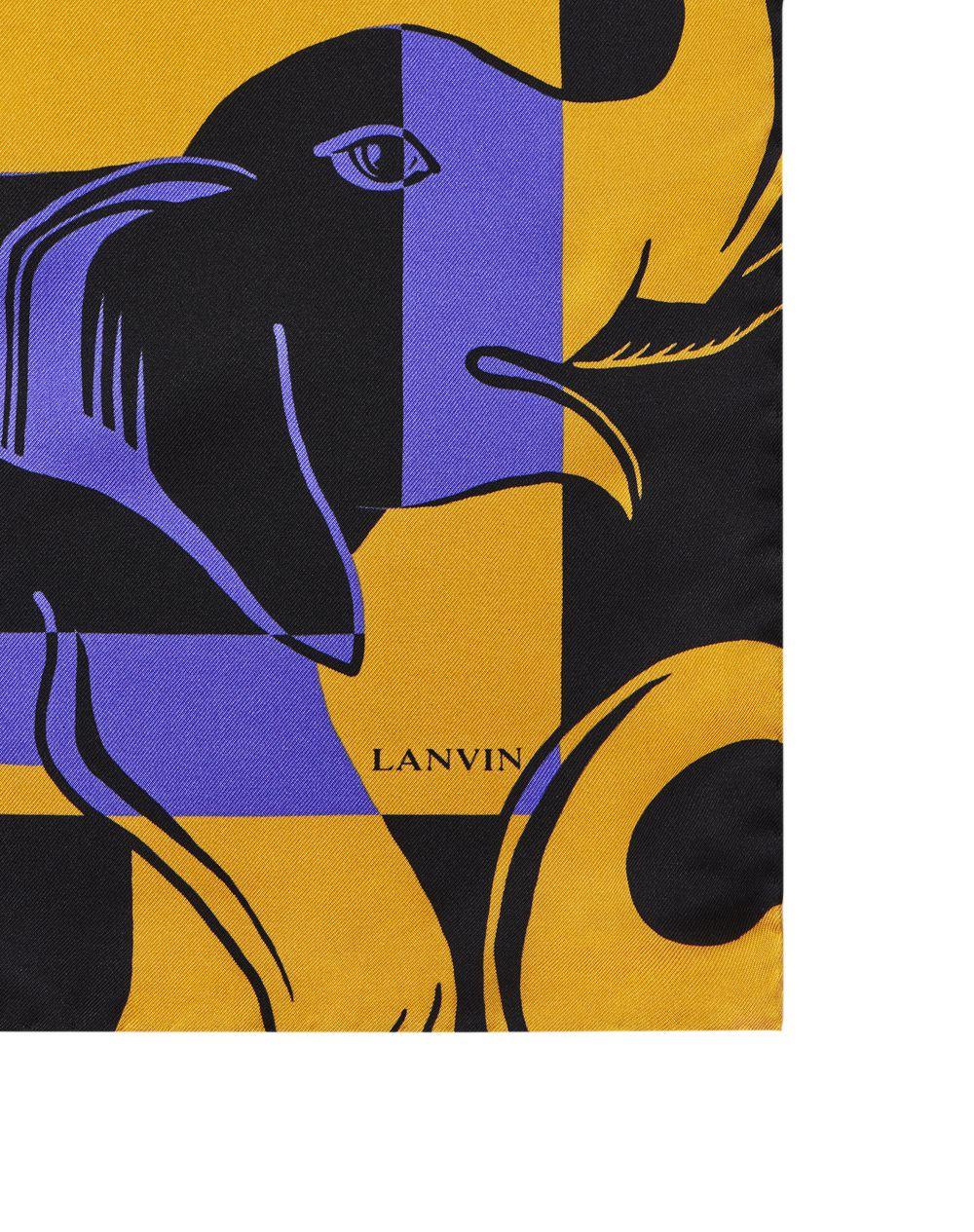 ELEPHANT-PRINT SILK SCARF  - Lanvin