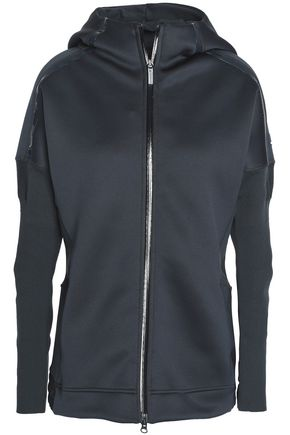 ADIDAS by STELLA McCARTNEY Paneled neoprene hooded jacket