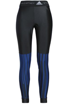 ADIDAS by STELLA McCARTNEY Striped stretch leggings