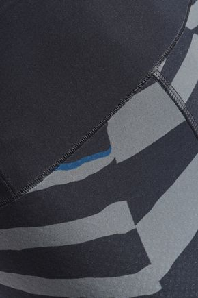 ADIDAS by STELLA McCARTNEY Zebra-print stretch leggings