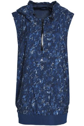 ADIDAS by STELLA McCARTNEY Printed shell hooded top