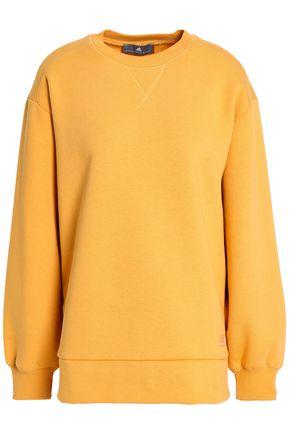 ADIDAS by STELLA McCARTNEY Zip-detailed French cotton-blend terry sweatshirt