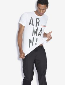 ARMANI EXCHANGE OLIVE DRAB SLIM LOGO TEE Logo T-shirt [*** pickupInStoreShippingNotGuaranteed_info ***] a