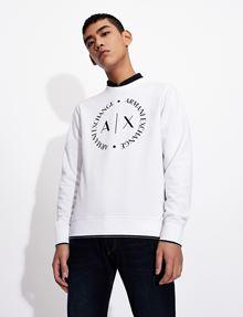 ARMANI EXCHANGE CLASSIC CIRCLE LOGO CREWNECK SWEATER Sweatshirt [*** pickupInStoreShippingNotGuaranteed_info ***] a