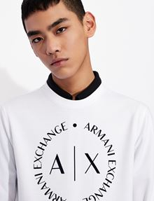 ARMANI EXCHANGE CLASSIC CIRCLE LOGO CREWNECK SWEATER Sweatshirt [*** pickupInStoreShippingNotGuaranteed_info ***] b