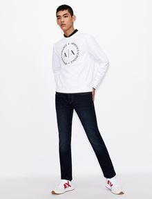 ARMANI EXCHANGE CLASSIC CIRCLE LOGO CREWNECK SWEATER Sweatshirt [*** pickupInStoreShippingNotGuaranteed_info ***] d