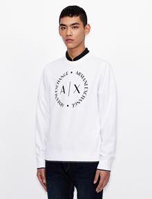 ARMANI EXCHANGE CLASSIC CIRCLE LOGO CREWNECK SWEATER Sweatshirt [*** pickupInStoreShippingNotGuaranteed_info ***] f