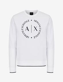 ARMANI EXCHANGE CLASSIC CIRCLE LOGO CREWNECK SWEATER Sweatshirt [*** pickupInStoreShippingNotGuaranteed_info ***] r