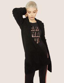 ARMANI EXCHANGE LONG-SLEEVE SEQUIN BLOCK CREWNECK TEE Logo T-shirt [*** pickupInStoreShipping_info ***] a