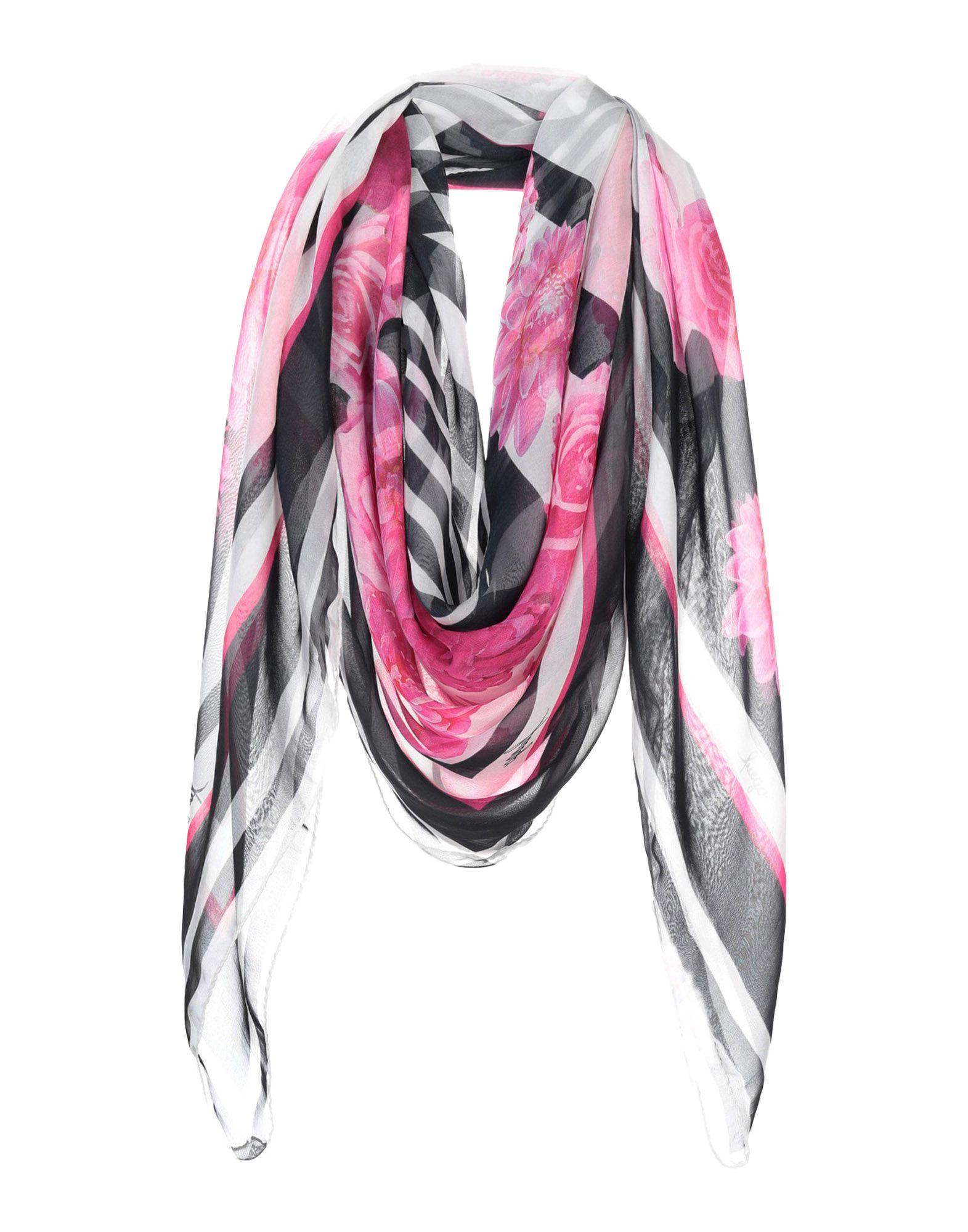 《送料無料》FUEGO WOMAN レディース スカーフ ブラック シルク 100%