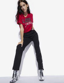 ARMANI EXCHANGE RHINESTONE LOVE SATURDAY CREW Graphic T-shirt [*** pickupInStoreShipping_info ***] a