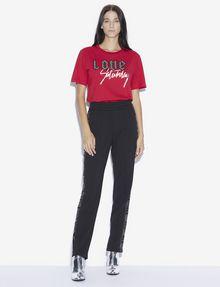 ARMANI EXCHANGE RHINESTONE LOVE SATURDAY CREW Graphic T-shirt [*** pickupInStoreShipping_info ***] d