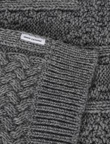 ARMANI EXCHANGE CABLE-KNIT WOOL-BLEND RECTANGULAR SCARF Scarf [*** pickupInStoreShippingNotGuaranteed_info ***] e