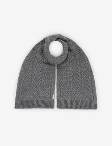 ARMANI EXCHANGE CABLE-KNIT WOOL-BLEND RECTANGULAR SCARF Scarf [*** pickupInStoreShippingNotGuaranteed_info ***] f
