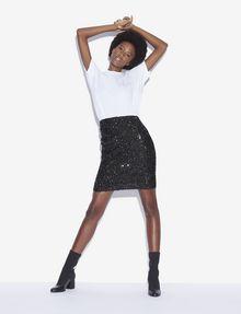 ARMANI EXCHANGE SEQUIN-STUDDED PENCIL SKIRT Midi Skirt [*** pickupInStoreShipping_info ***] a
