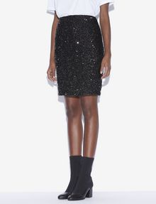 ARMANI EXCHANGE SEQUIN-STUDDED PENCIL SKIRT Midi Skirt [*** pickupInStoreShipping_info ***] f