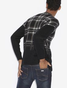ARMANI EXCHANGE PLAID DEGRADE CREWNECK SWEATER Pullover [*** pickupInStoreShippingNotGuaranteed_info ***] e