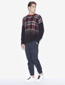 ARMANI EXCHANGE PLAID DEGRADE CREWNECK SWEATER Pullover [*** pickupInStoreShippingNotGuaranteed_info ***] d