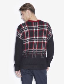 ARMANI EXCHANGE PLAID DEGRADE CREWNECK SWEATER Pullover [*** pickupInStoreShippingNotGuaranteed_info ***] e