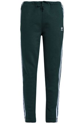 ADIDAS ORIGINALS Striped French cotton-terry track pants