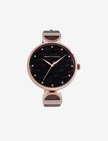 ARMANI EXCHANGE MINIMALIST QUILTED-FACE ROSE GOLD-TONED WATCH Fashion Watch [*** pickupInStoreShipping_info ***] f