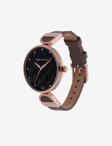 ARMANI EXCHANGE MINIMALIST QUILTED-FACE ROSE GOLD-TONED WATCH Fashion Watch [*** pickupInStoreShipping_info ***] r