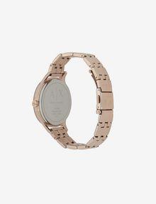 ARMANI EXCHANGE MATTE BLACK AND ROSE GOLD-TONED BRACELET WATCH Fashion Watch [*** pickupInStoreShipping_info ***] d