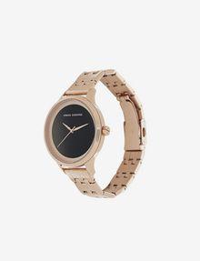 ARMANI EXCHANGE MATTE BLACK AND ROSE GOLD-TONED BRACELET WATCH Fashion Watch [*** pickupInStoreShipping_info ***] r