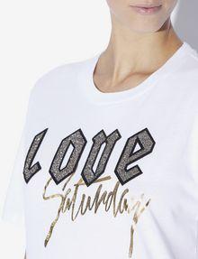 ARMANI EXCHANGE LOVE SATURDAY RUNDHALSSHIRT MIT STRASS T-Shirt mit Grafik [*** pickupInStoreShipping_info ***] b