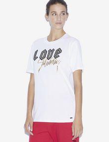 ARMANI EXCHANGE LOVE SATURDAY RUNDHALSSHIRT MIT STRASS T-Shirt mit Grafik [*** pickupInStoreShipping_info ***] f